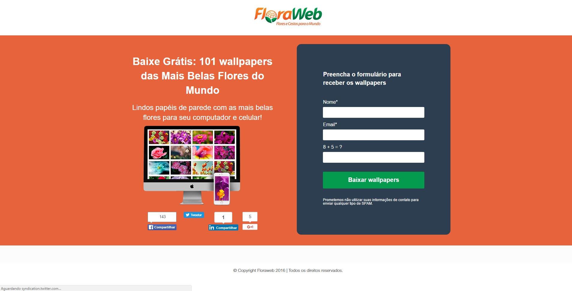 criação de conteúdo de landing pages pela floraweb