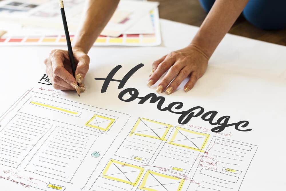 homepage e a diferença com landing pages