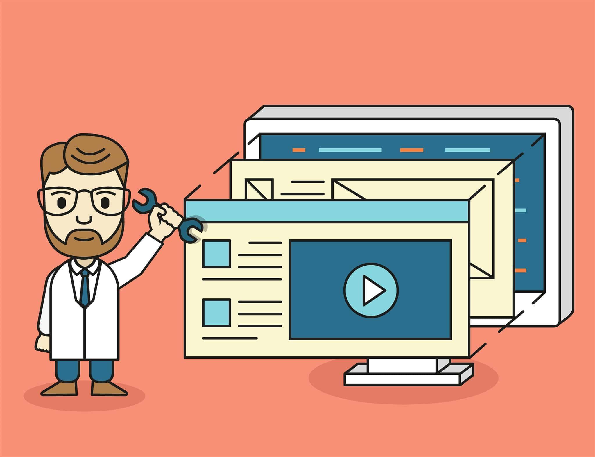 ilustração de conteúdo de paginas