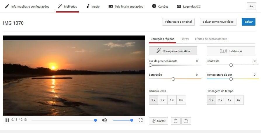captura de tela de como criar um canal no youtube