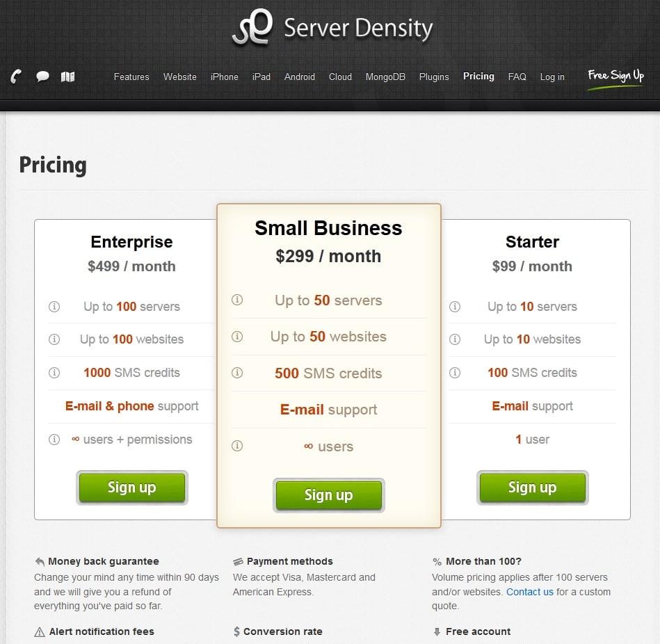 server-density-pricing-plans