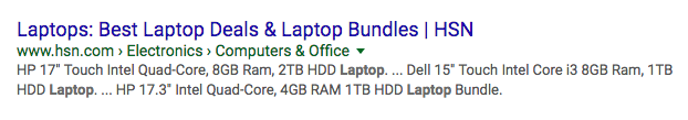 title tag example laptops