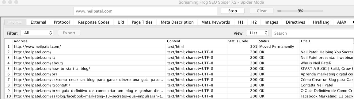 use screaming frog to create a sitemap