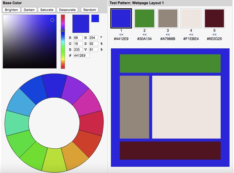 ferramentas para escolha de esquema de cores