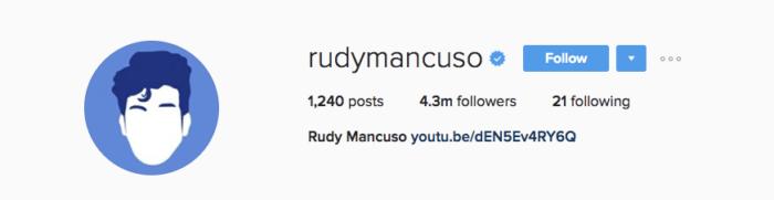 perfil do rudy mancuso no instagram