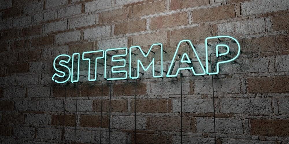 letras neon para SITEMAP