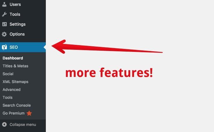 mais ferramentas no plugin para sitemap Yoast