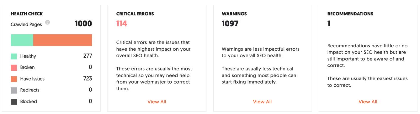examiner le résultat d'ubersuggest pour rechercher les erreurs de sitemap XML