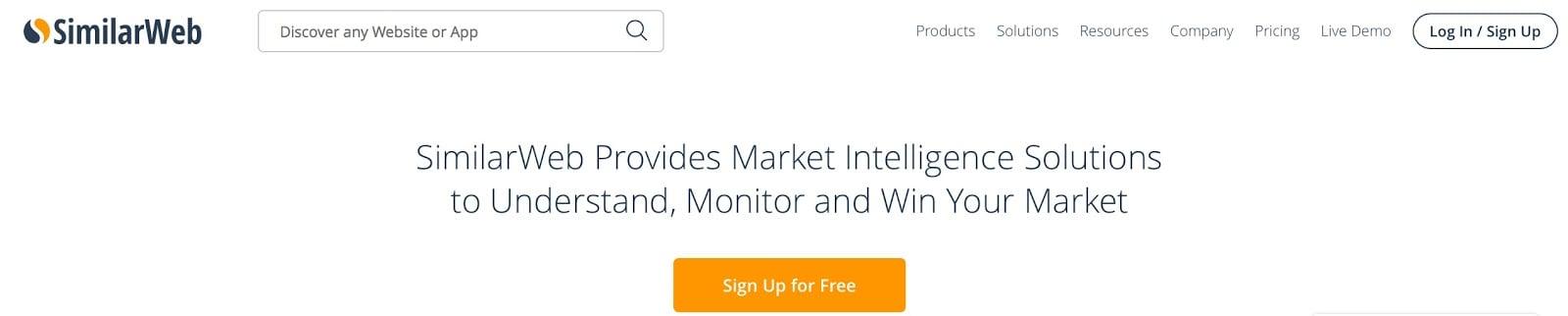SimilarWeb Digital Market Intelligence Website Traffic