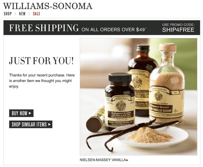 williams-sonoma-personalized-email