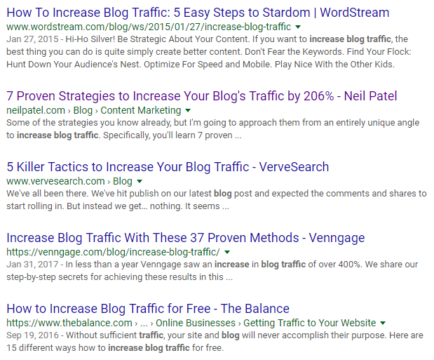 Drive Traffic to Blog