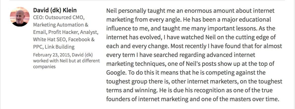 2 Neil Patel LinkedIn 2