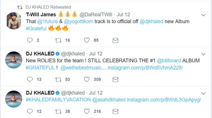 DJ Khaled Twitter