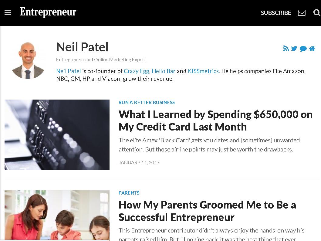 Entrepreneur Neil Patel