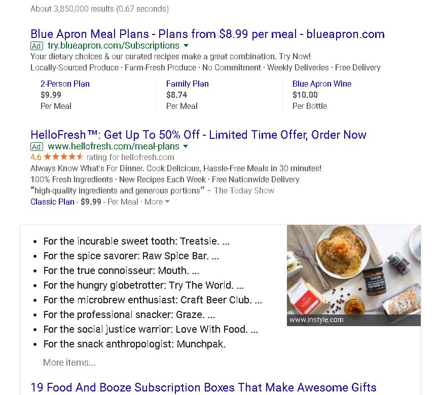 Food Subscription Schema