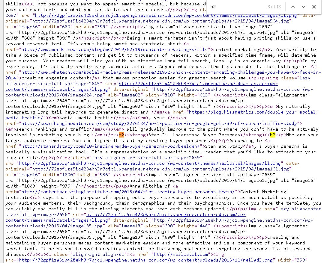Neil Patel Source Code HTML Tutorial