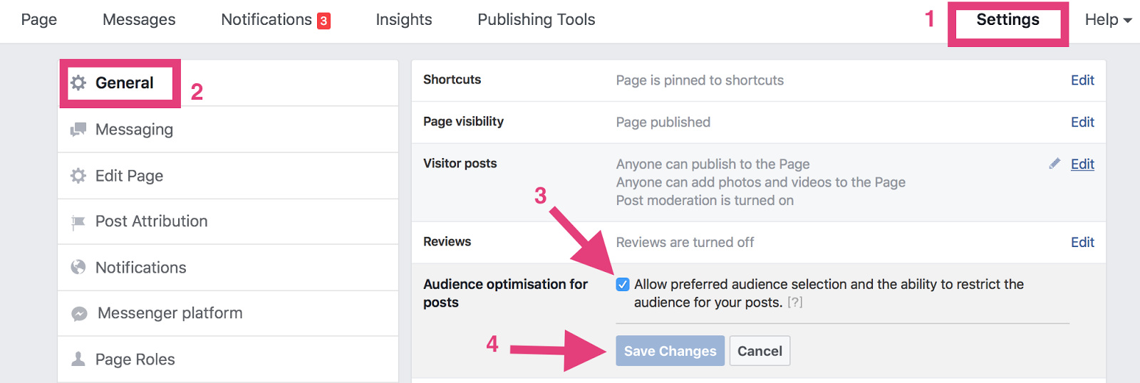 organic facebook reach enable targeting features