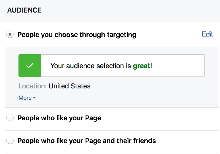 facebook organic reach choose your audience