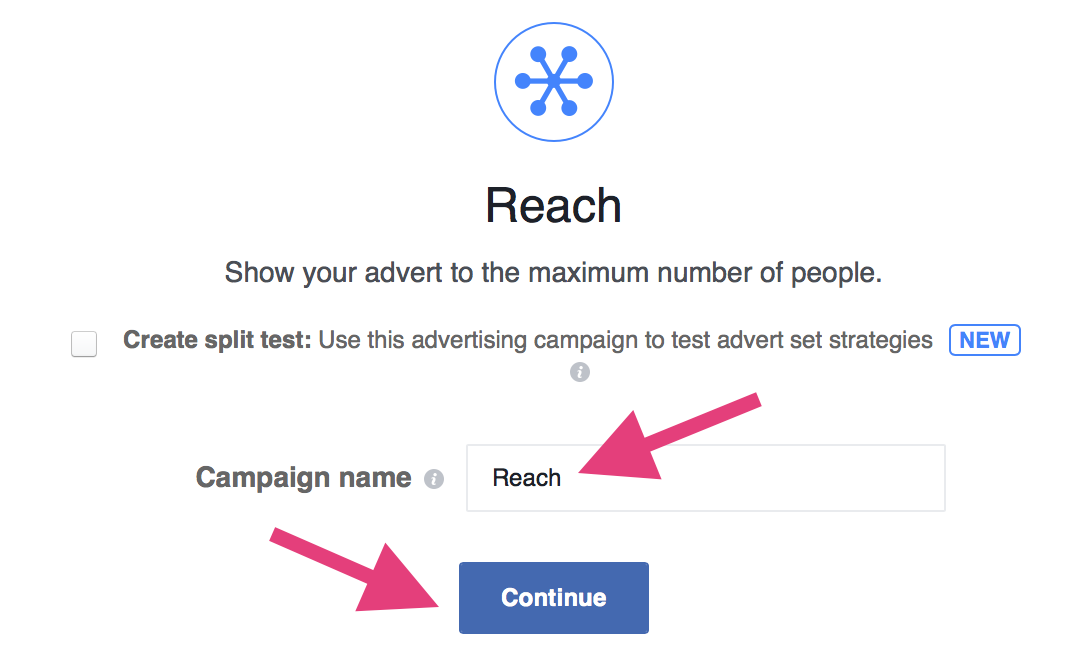facebook organic reach choose campaign type