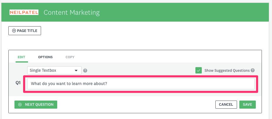 SurveyMonkey Design Content Marketing