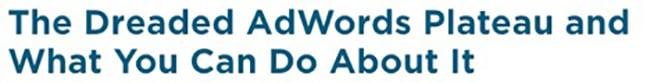 adwords plateau