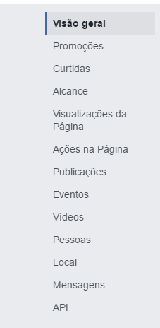 analytics pelo facebook