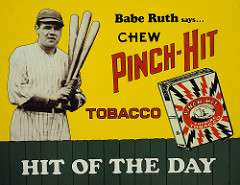 babe ruth tobacco advertisement