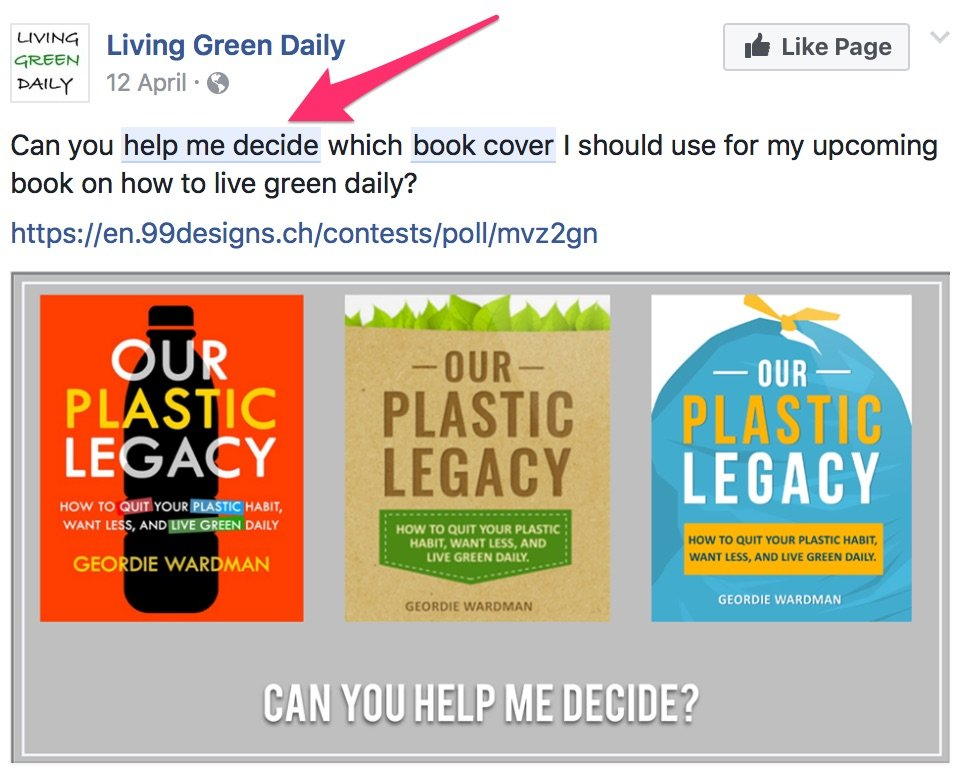 help me decide book cover Facebook Search