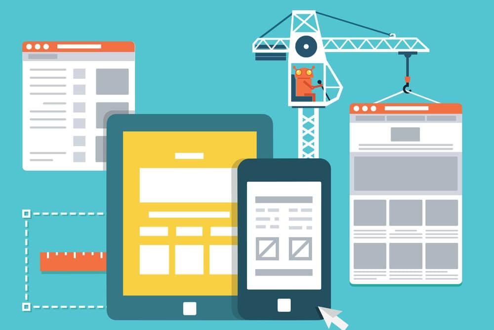 ilustração de elementos de layout de site