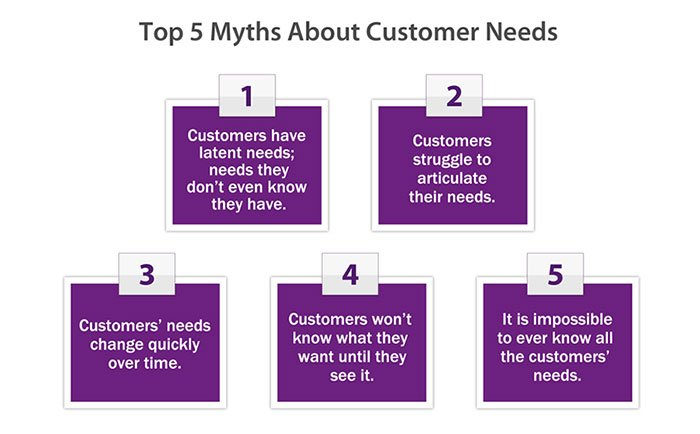 what customers don't need