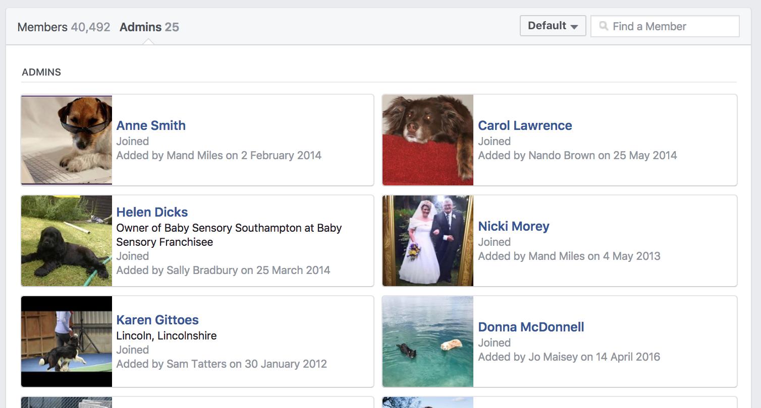 grow your facebook group click admins
