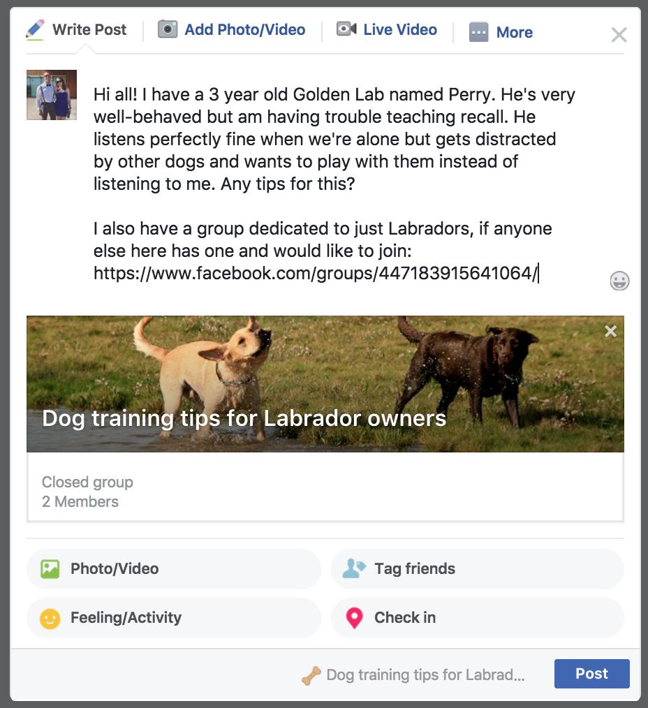 grow a facebook group post
