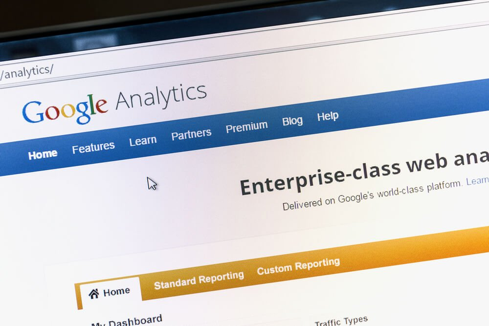 tela incial do google analytics desktop