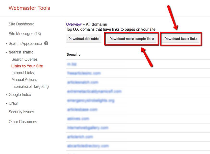 09 google webmaster tools links to your site