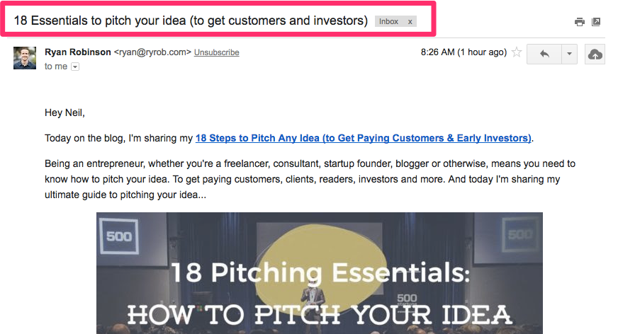 18 Essentials to pitch your idea to get customers and investors stephen g roe gmail com Gmail