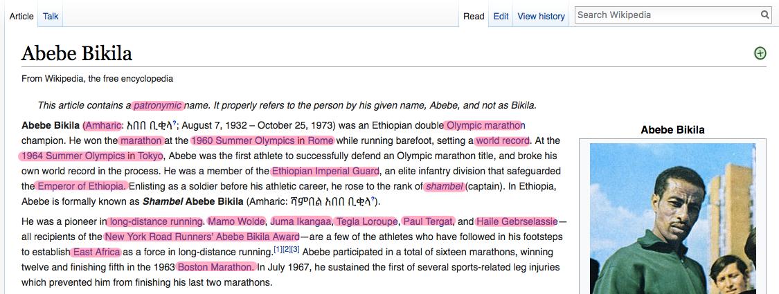 Abebe Bikila Wikipedia