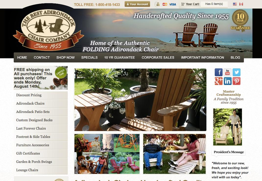 Adirondack Chairs Best Handcrafted Wood Adirondack Chair