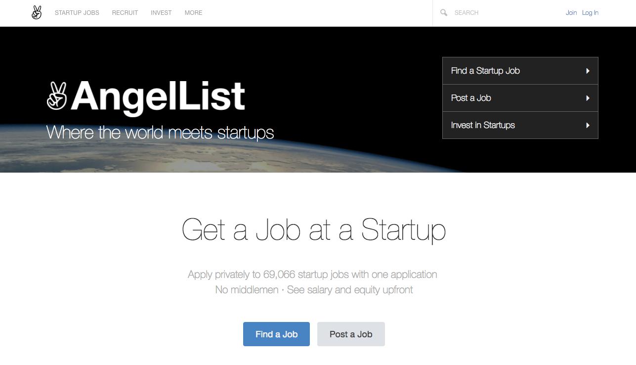 AngelList Where the world meets startups