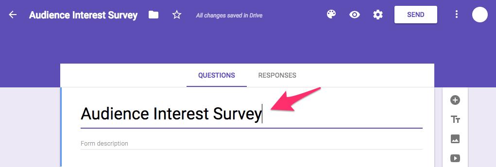 Audience Interest Survey Google Forms 2