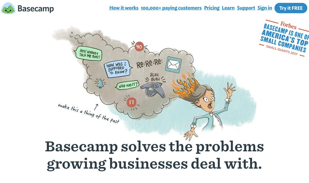 Basecamp Project Management Team Communication Software