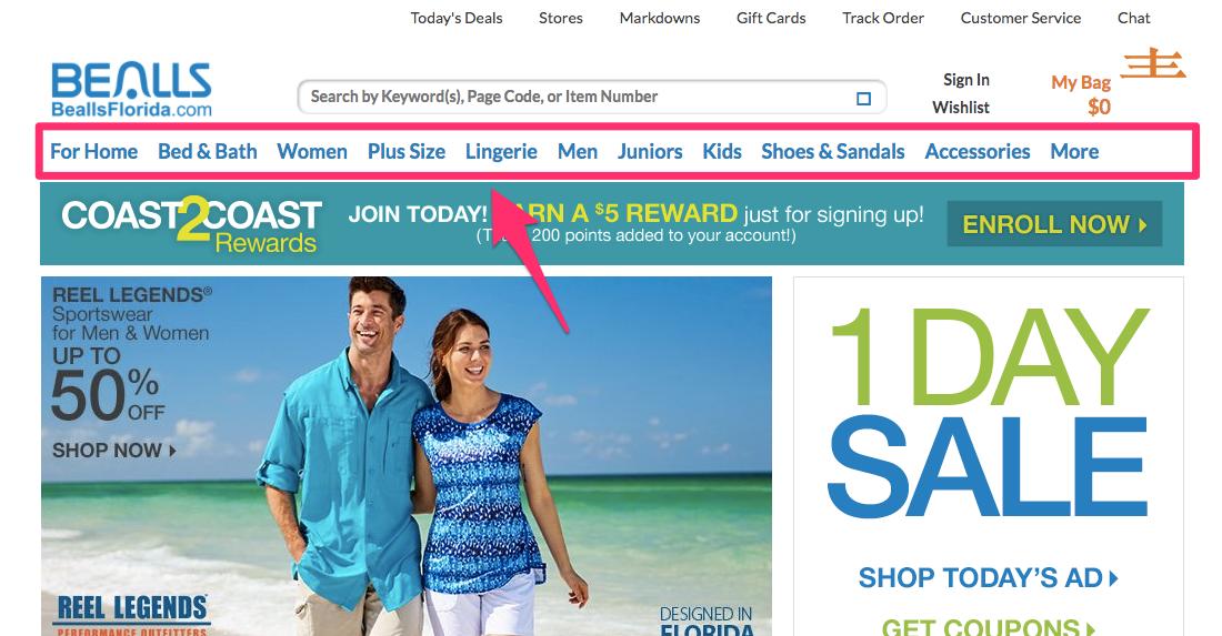Bealls Florida Department Stores Beachwear Home Clothing
