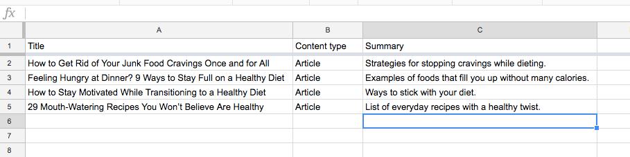 Content Inventory NeilPatel com Google Sheets 7
