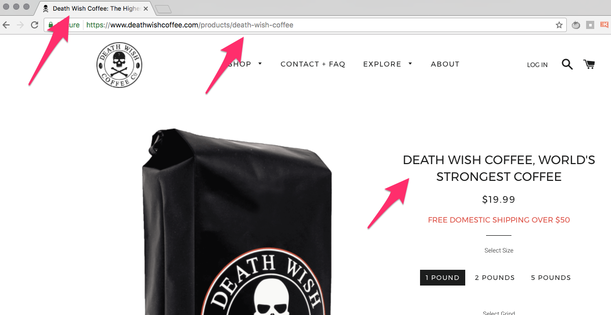 Death Wish Coffee The Highest Caffeine Coffee Death Wish Coffee Co Death Wish Coffee Company