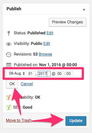 Edit Post Thoughtful Growth WordPress 1