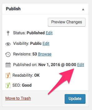 Edit Post Thoughtful Growth WordPress