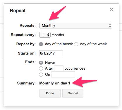 Google Calendar Event Details