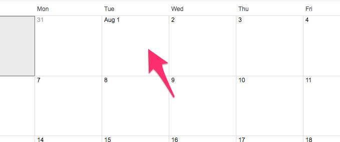 Google Calendar Month of Aug 2017 6