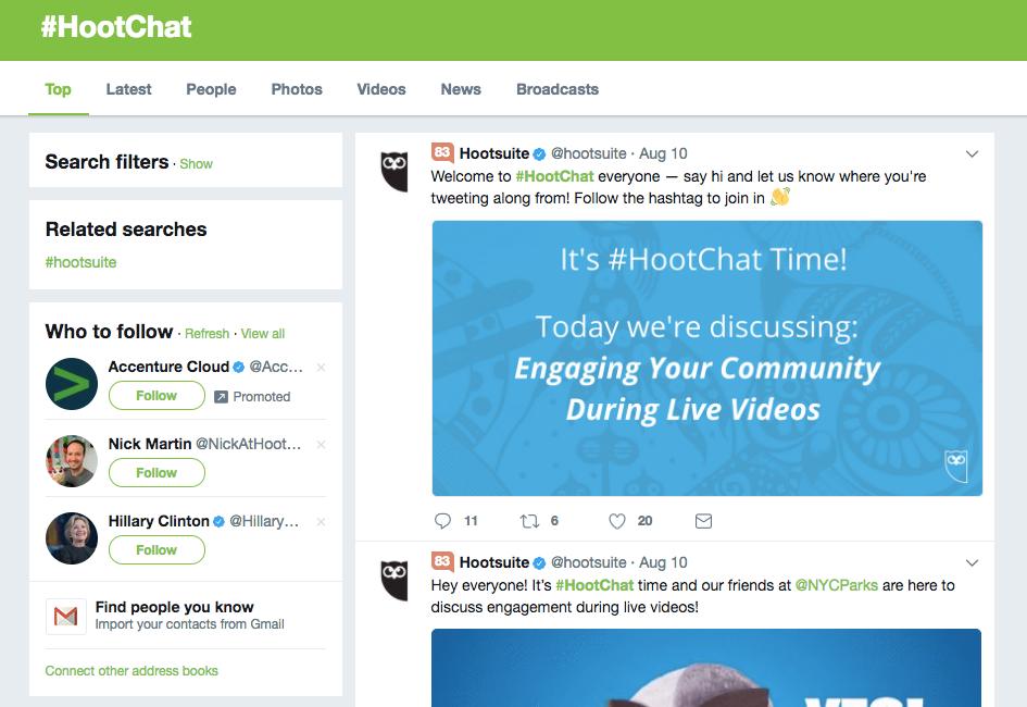 HootChat hashtag on Twitter 1