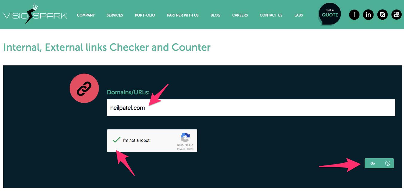 Internal External links Checker Counter Tool
