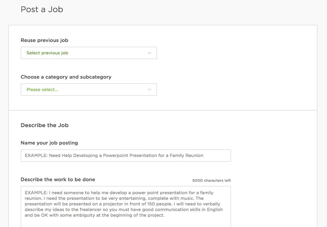 Job Postings Stephen Roe Upwork